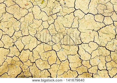 The cracked and droughty ground simbolizes to global warming.