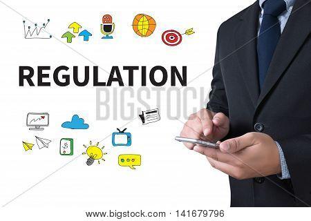 REGULATION businessman working use smartphone man business  businessman vision work