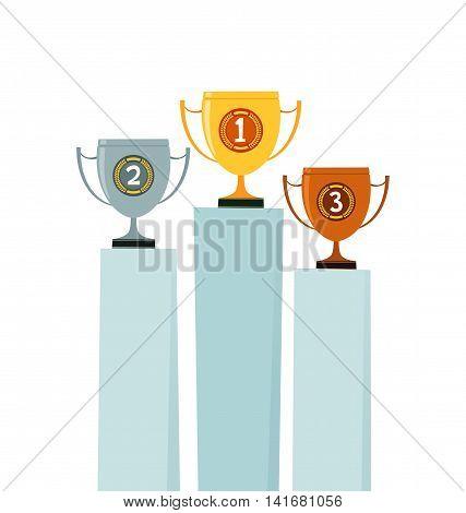 set of trophy illustration vector illustration for various use