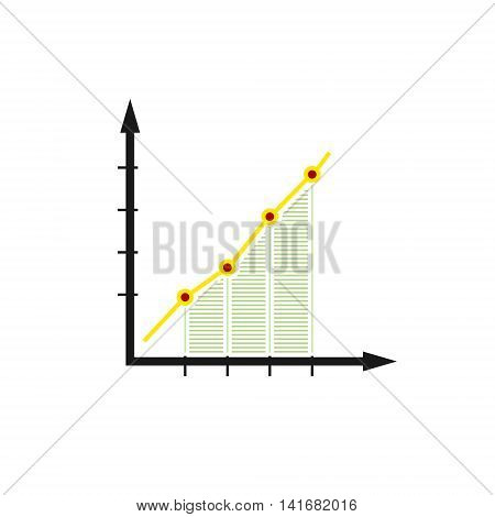 Chart , Graphic Success, Graph Growth Isolated on White Background, Vector Illustration