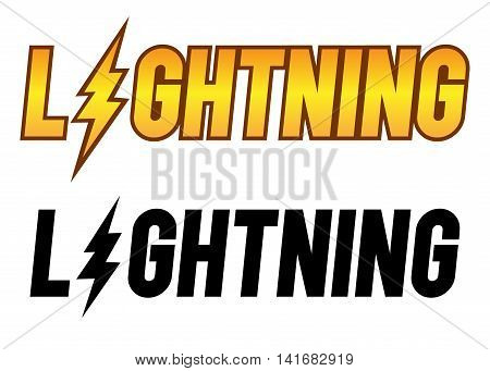 Vector stock of the word lightning typography art