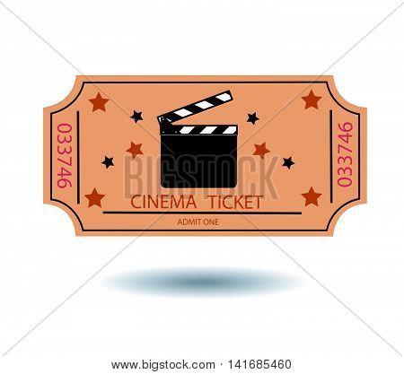 cinema tickets vector illustration on white background