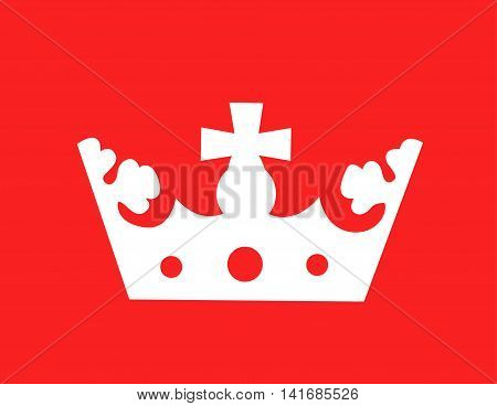illustration of a crown on red background
