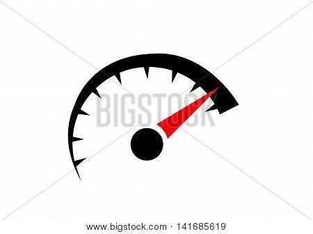 speedometer. abstract symbol of speed illustration art