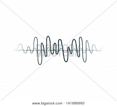 equalizer music sound melody icon. Isolated and flat illustration. Vector graphic