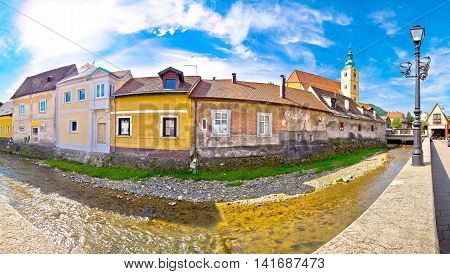 Town of Samobor riverfront panoramic view northern Croatia