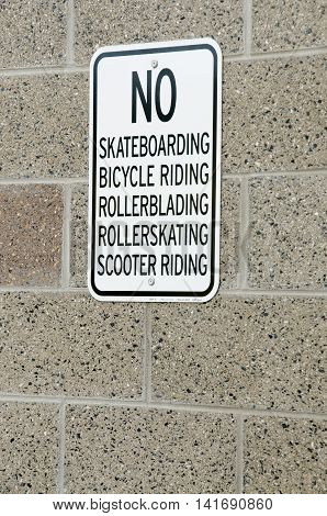 No Doing Stuff Sign