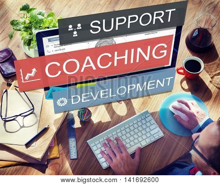 Coaching Support Development Guide Leader Concept
