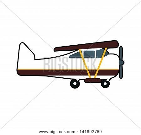 airplane travel transporation flying icon. Isolated and flat illustration. Vector graphic