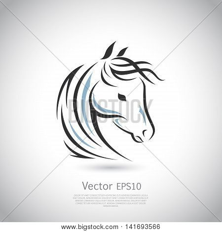 Horse head silhouette. Vector icon design. Logo template