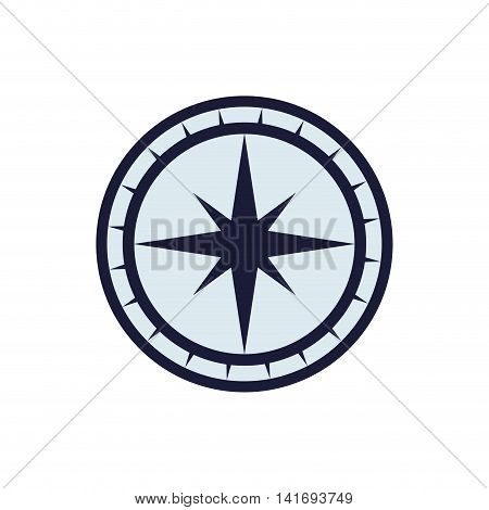 compass nautical direction star icon. Isolated and flat illustration. Vector graphic