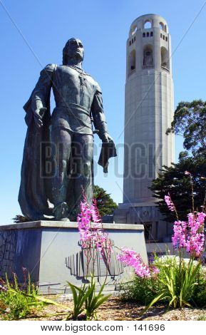 Coit Tower And Statue