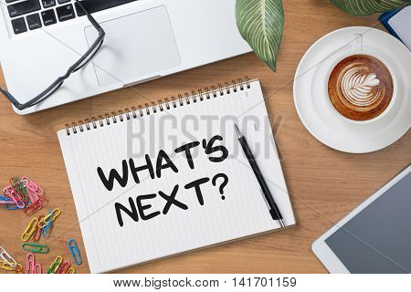 What's Next? man business  businessman vision work