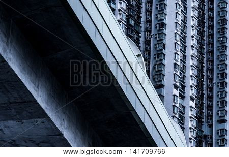 New apartment in Hong Kong architecture detail