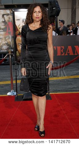 Minnie Driver at the World premiere of 'The A-Team' held at the Grauman's Chinese Theater in Hollywood, USA on June 3, 2010.