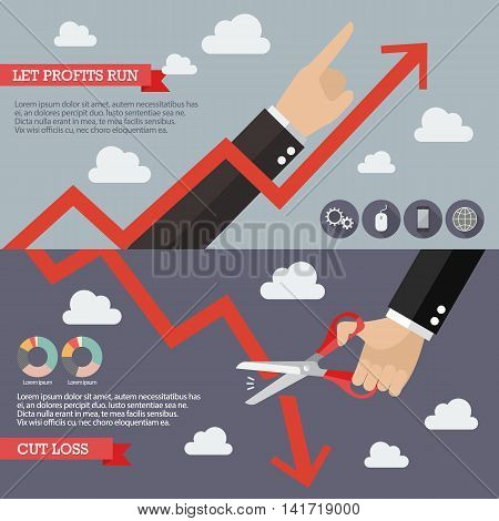 Strategy of Technical Analysis Infographic. Business concept