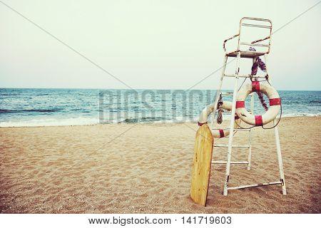 Beach Sand Sea Lifeguard Seat Concept