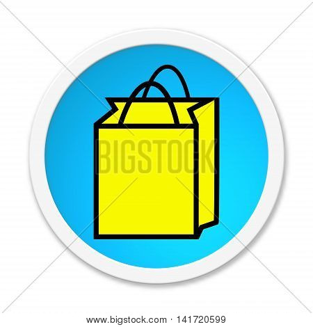 Isolated round button with Shopping Bag symbol