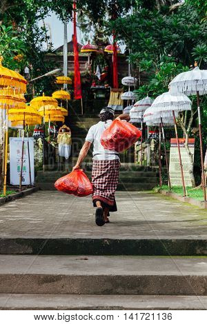 Man In Traditional Balinese Clothes