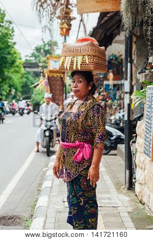 Woman Carrying Basket On The Head