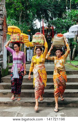Women With Basket On The Head