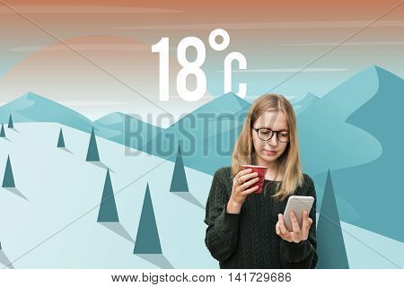 Weather Season Weather Forecast Application Concept