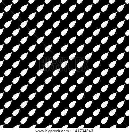 Drops geometric seamless pattern. Fashion graphic background design. Modern stylish abstract monochrome texture. Template for prints textiles wrapping wallpaper website. Stock VECTOR illustration