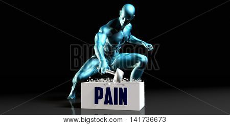 Get Rid of Pain and Remove the Problem 3d Illustration Render