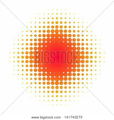 Isolated dotted star background with red color