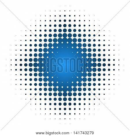 Isolated dotted star background with blue color