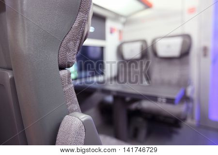 Emtpy Interior Of The Train
