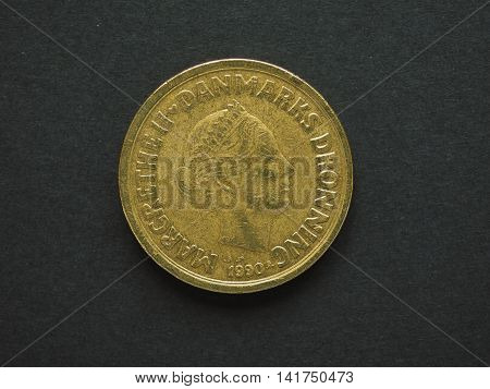 20 Danish Krone (dkk) Coin, Currency Of Denmark (dk)