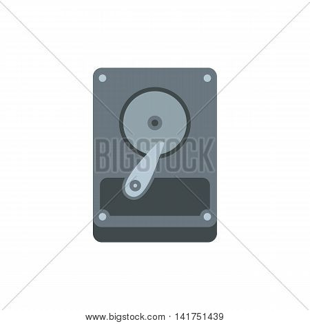 HDD icon in flat style on a white background