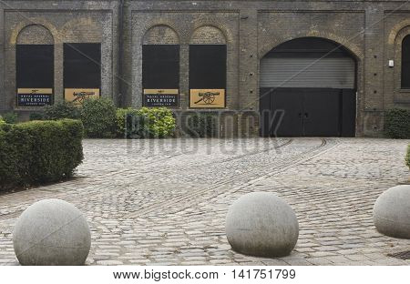 LONDON, UNITED KINGDOM - SEPTEMBER 13 2015: London Royal Arsenal Riverside in London Woolwich quartier with nobody around