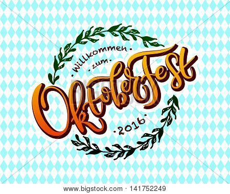 Vector Illustration Of Oktoberfest Logotype
