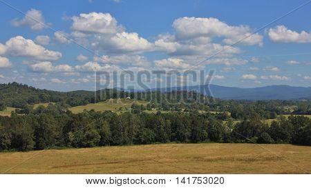 Idyllic landscape in Telegraph Point. Rural scene in New South Wales Australia.
