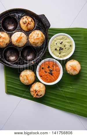 south indian popular snack reciepe called Appe or Appam or Rava Appe