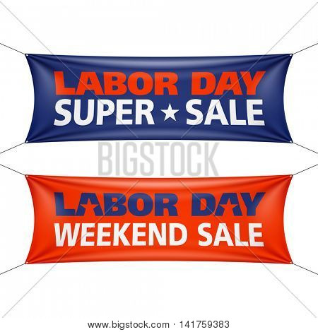 Labor Day Super Sale banner vector illustration