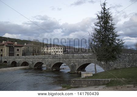 Bridge over the River Douro in Soria
