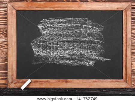 School Board With Piece Of Chalk