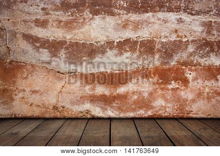 Plaster walls and wood floors, For background and texture.
