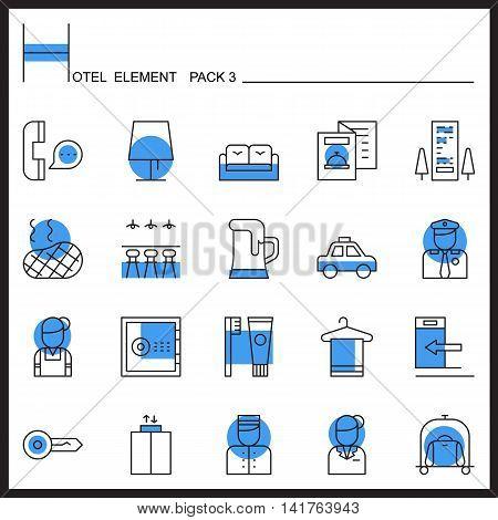 Airport Element Line Icon Set 3.Color pack.Graphic vector logo set.Pictogram design.