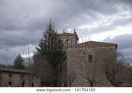 Belltower of Salduero in Soria, Castilla leon, Spain