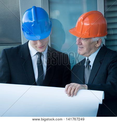 Engineers Analyzing Construction Projest