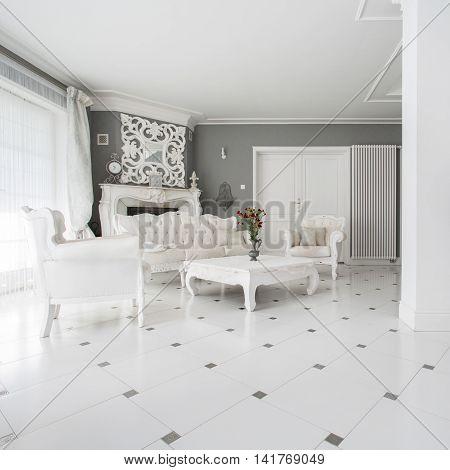 Photo of luxury vintage style family room