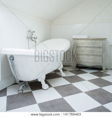 White And Gray Tiles