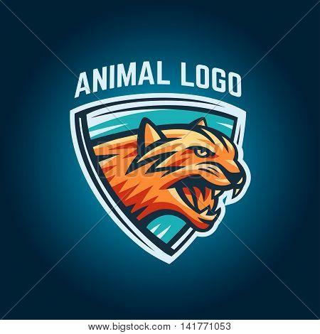 Animal logo design on a white background