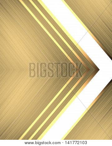 Abstract Gold Background With Ornament. Template For Design. Copy Space For Ad Brochure Or Announcem