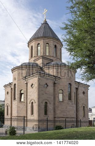 Rostov-on-Don Russia -August 062016: Armenian Apostolic Church of Surb Harutyun (St. Resurrection)