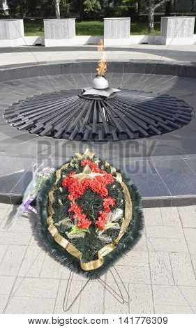 Rostov-on-DonRussia-August 06 2016:The memorial complex